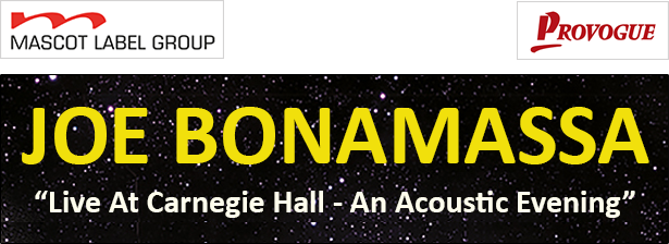 promo image of Joe Bonamassa, Live At Carneigie Hall, an acoustic evening album release photo