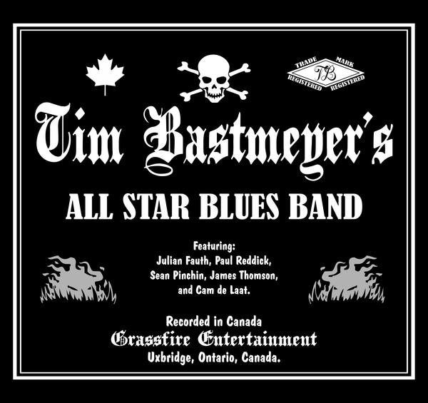 image of the cd cover for Tim Bastmeyer's All Star Blues Band
