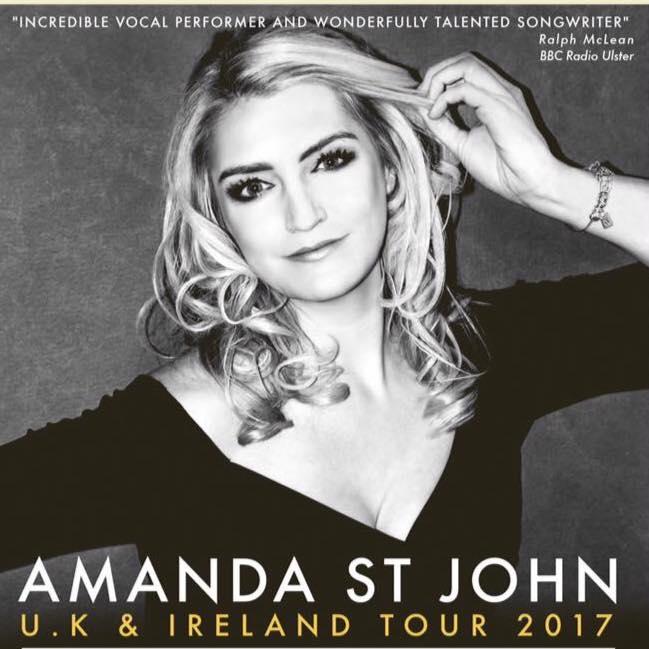 image of Amanda St John with text saying UK & Ireland Tour 2017