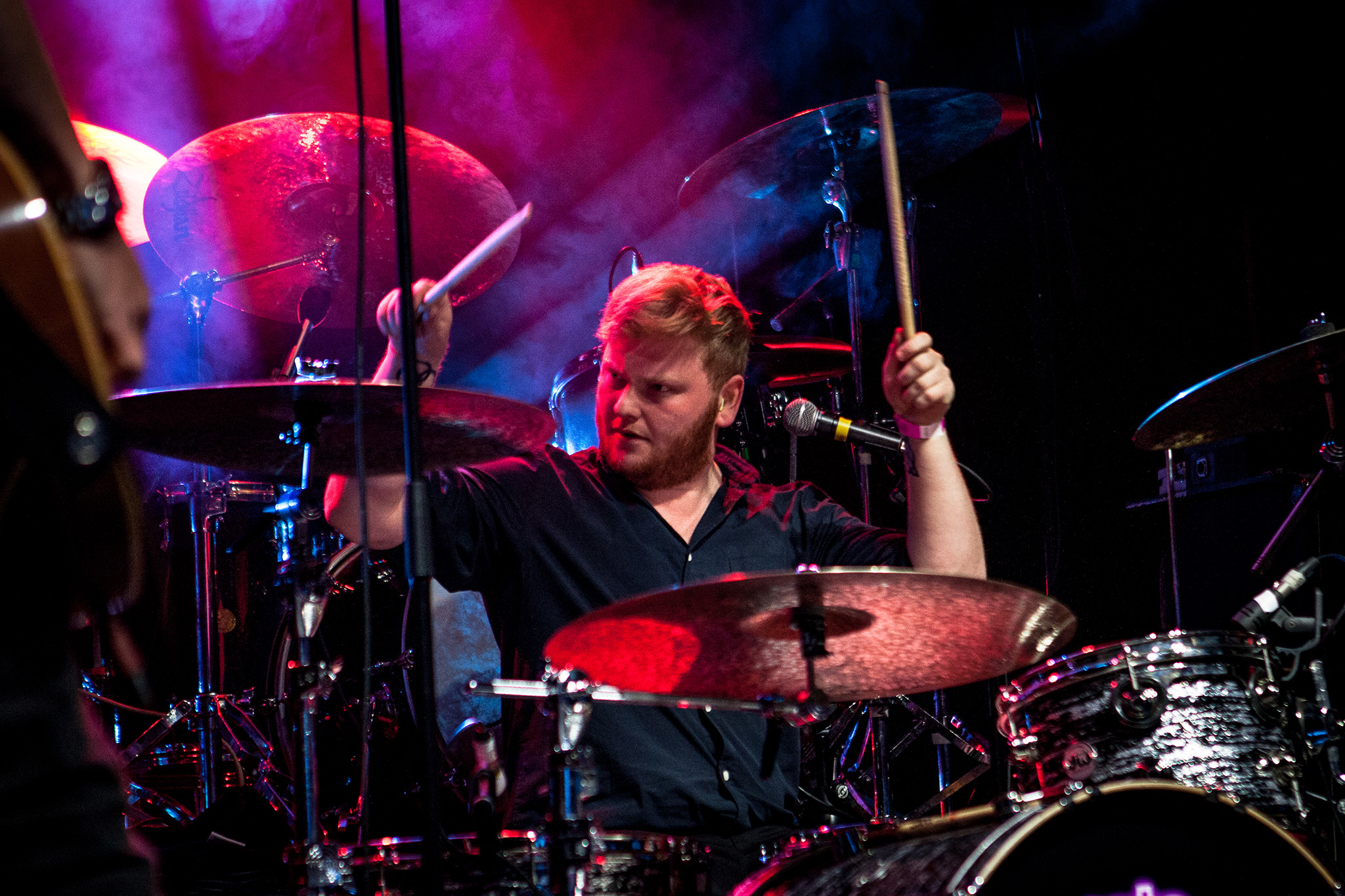 photo of the drummer from Bad Touch by Andras Paul