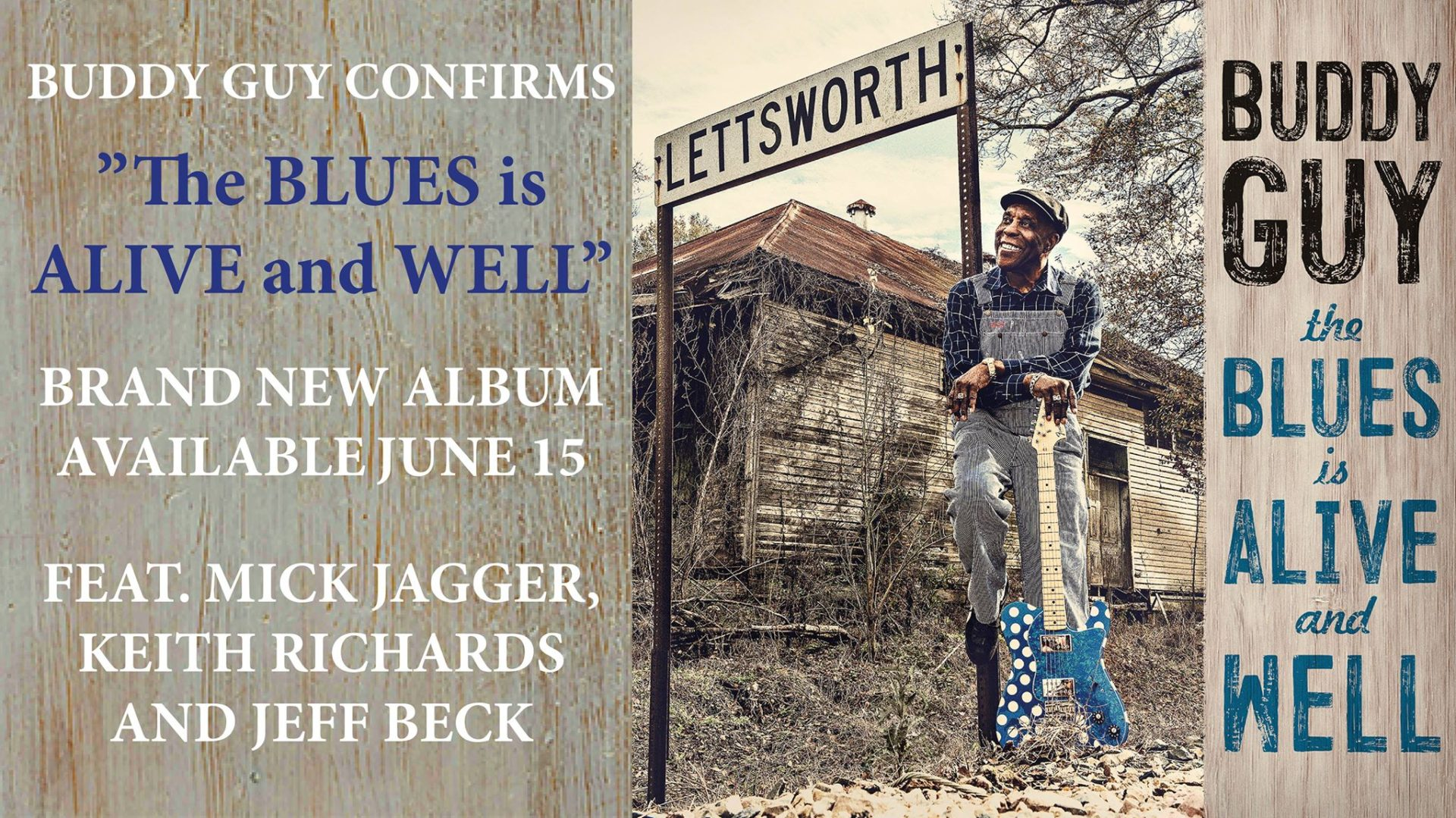 Buddy Guy image for the Blues Is Alive And Well album release on 15th June 2018