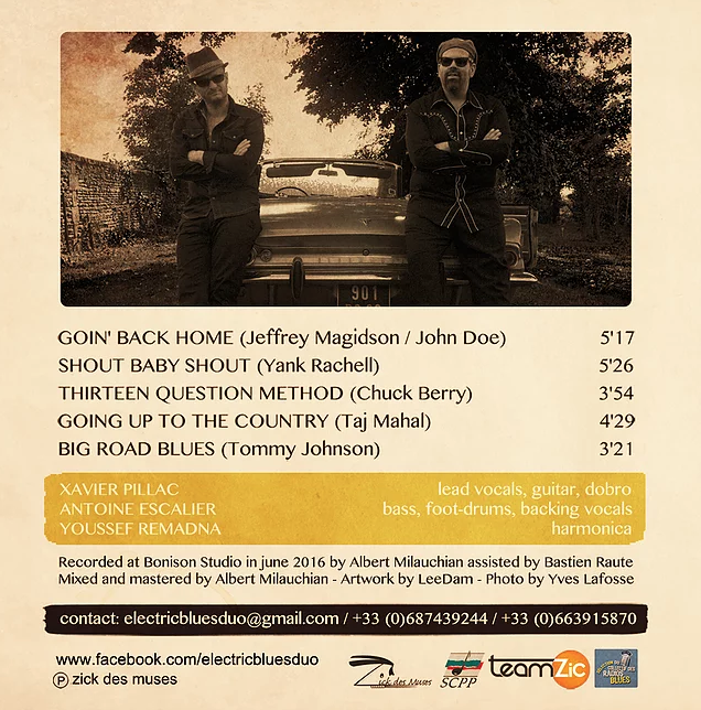 image of the Electric Blues Duo EP back cover