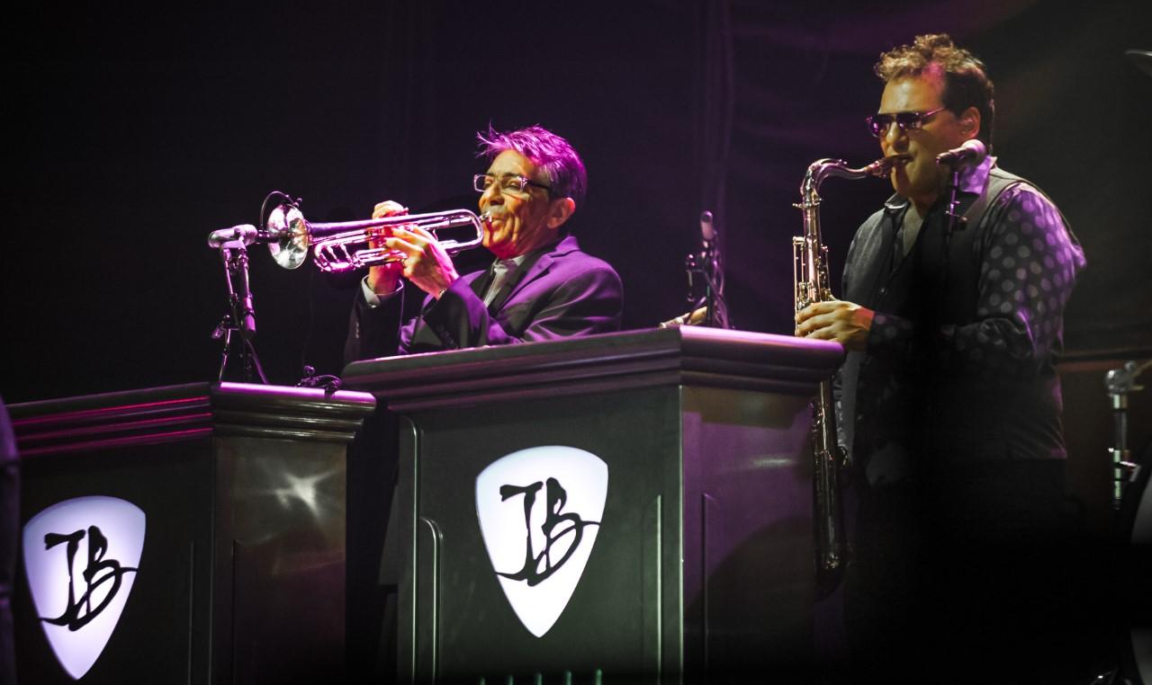 photo of musicians Lee Thornburg + Paulie Cerra - by Richard Bolwell