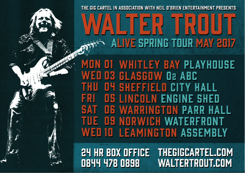 image of Walter Trout Tour Dates for May 2017 UK