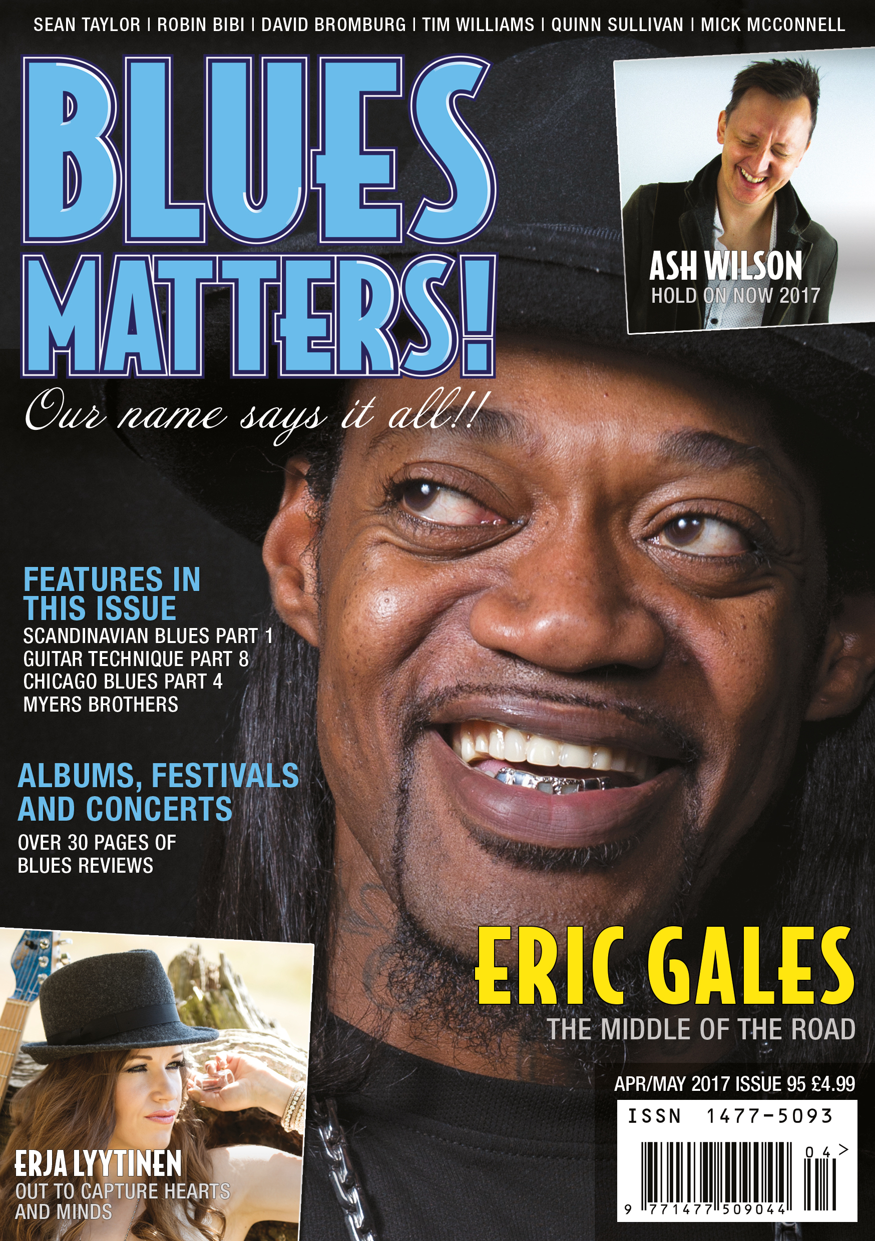 image of Issue 95 of Blues Matters magazine cover
