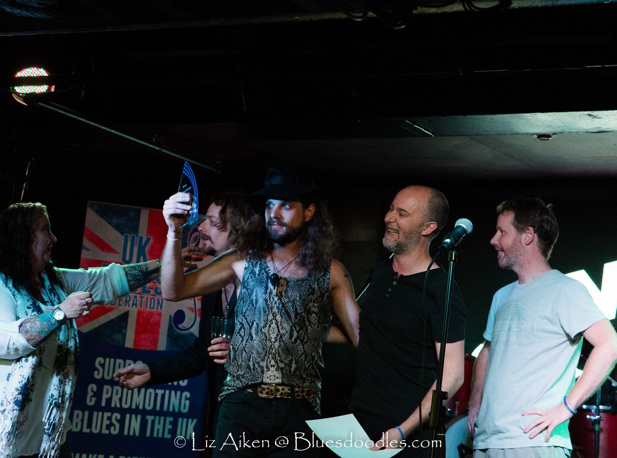 photo of LaVendore Rogue winners of the 4th UK Blues Challenge, photo by Liz Aiken