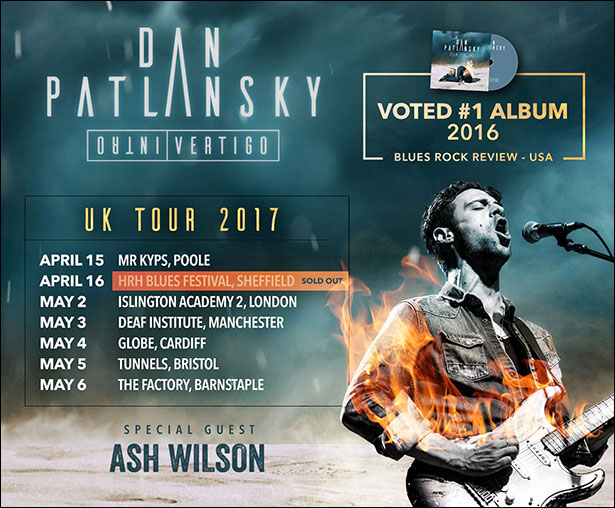 Dan Patlansky poster with 2017 tour dates