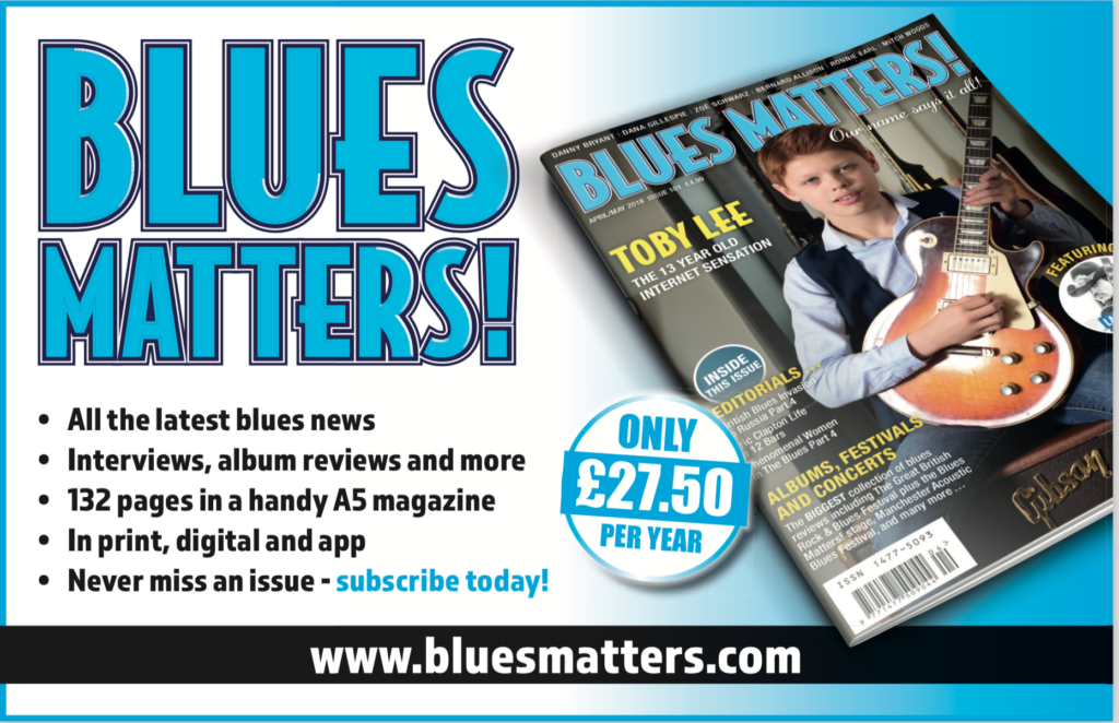 image for Subscription Banner for Blues Matters magazine 2018