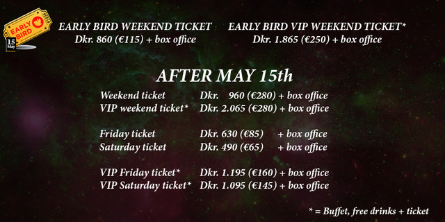image of banner advertising Blues Heaven Festival in Denmark's early bird ticket offers, valid until 31st May 2018
