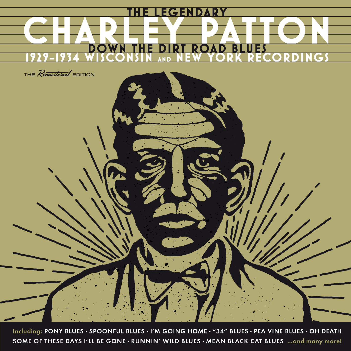 Charley Patton Down At The CD album cover for Dirt Road Blues 1929-1934