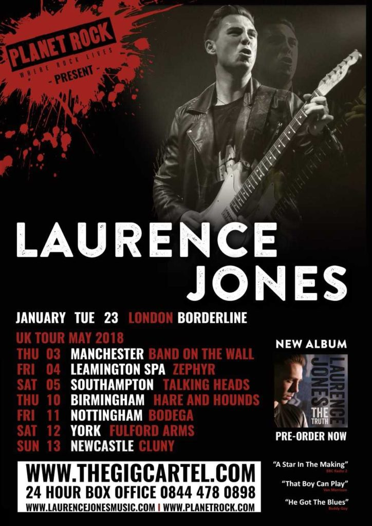 image of poster for Laurence Jones 2018 Tour Dates