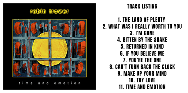 image for Robin Trower's Time & Emotion album track listing