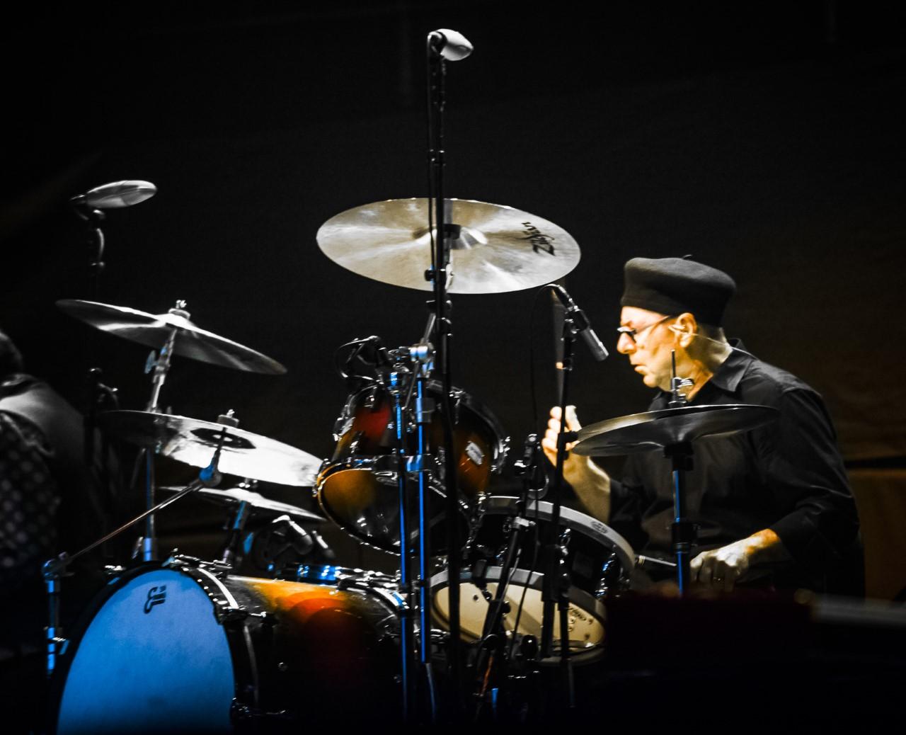 photo of drummer Anton Fig - Royal Albert Hall by Richard Bolwell