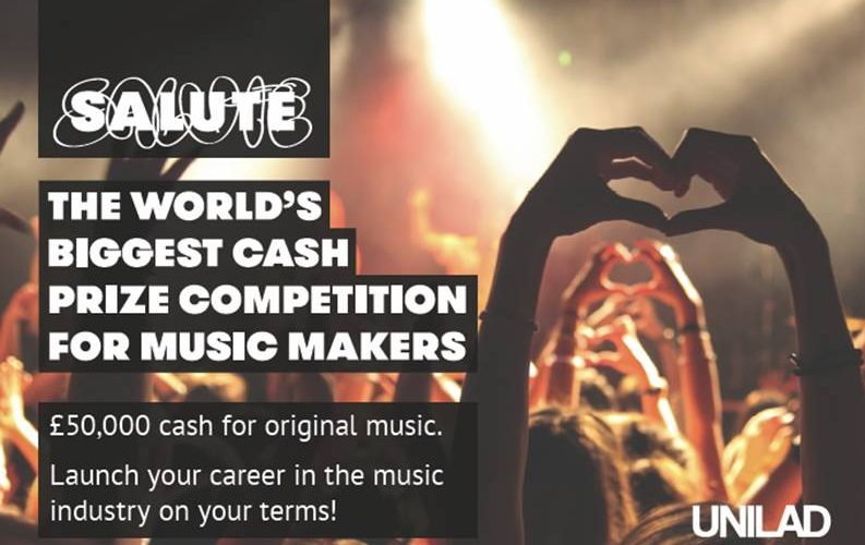 SALUTE MUSIC MAKERS enter to win a £50,000 cash prize!