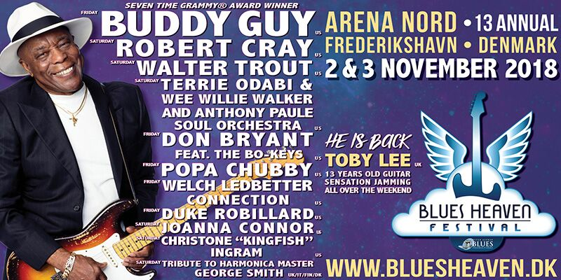 image of poster for the lineup for Blues Heaven Festival (DK) 2018