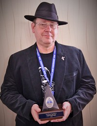 image of Fred Delforge winning Keeping the Blues Alive Award in 2016