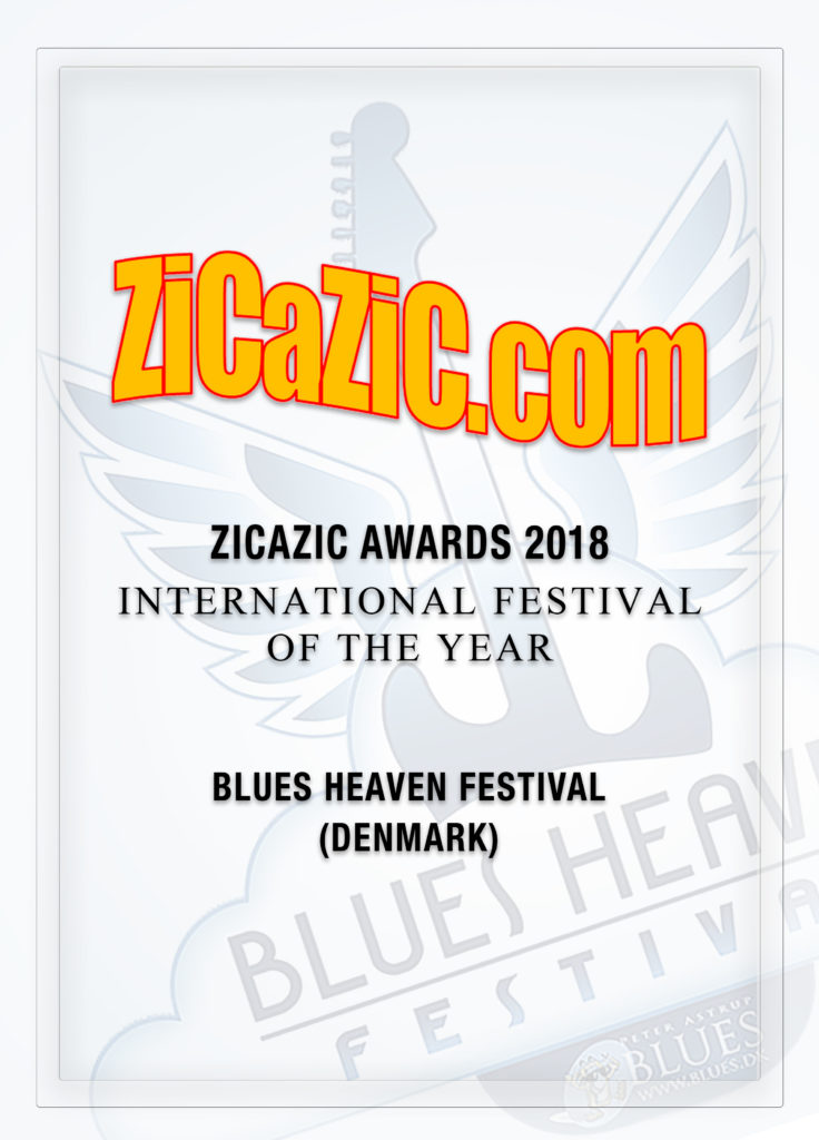 image of International Festival of the Year Zicazic Award 2018 for Blues Heaven Festival in Denmark