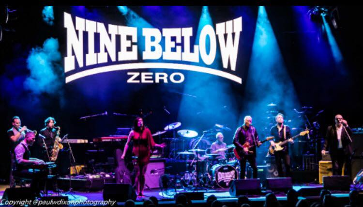 image of Nine Below Zero band on stage