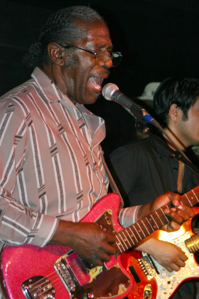 image of bluesman Eddie C. Campbell by Jennifer Noble