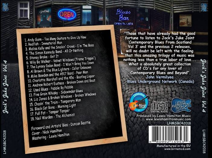 image of the back cover of Jock's Juke Joint Volume 4