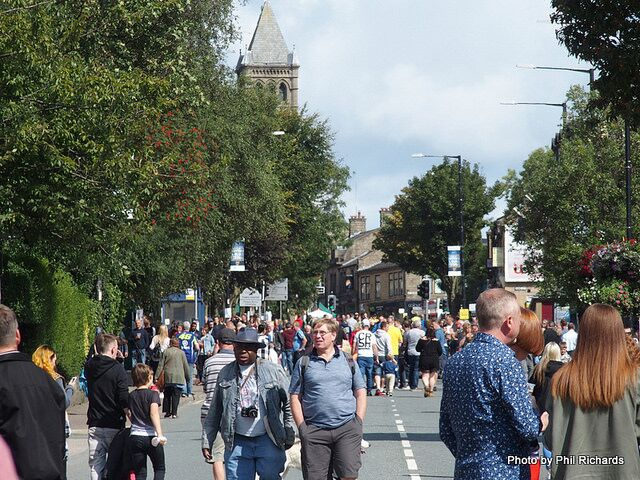image of festival goers at colne blues festival 2018