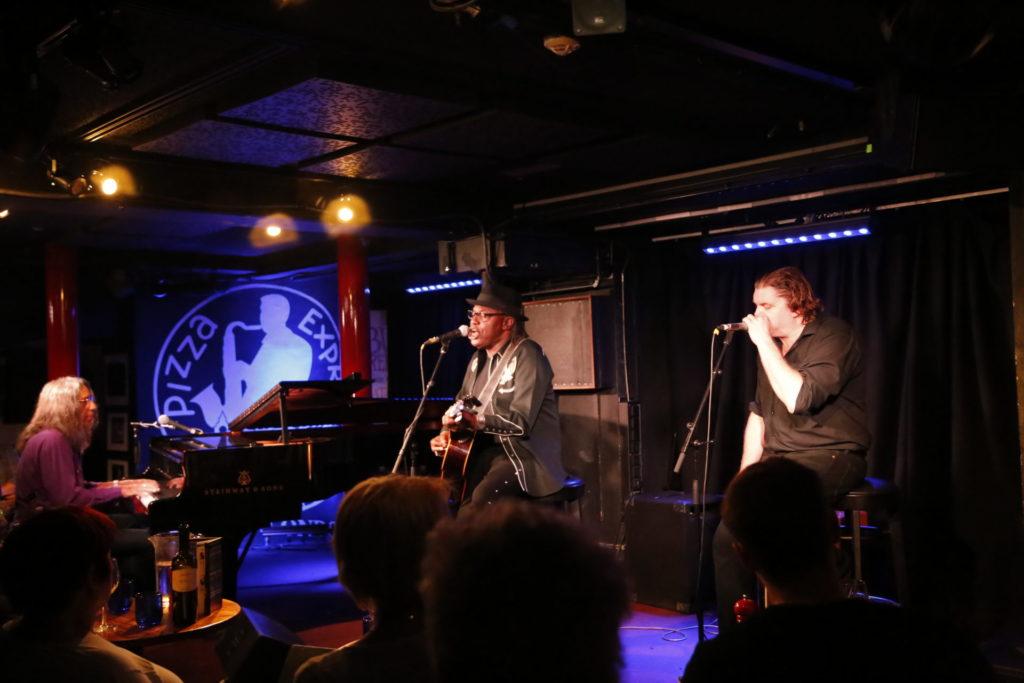 photo of blues artists bruce katz, joe louis walker & giles robson