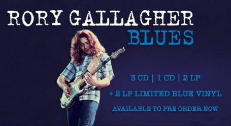 image of poster for Rory Gallagher's new album Blues