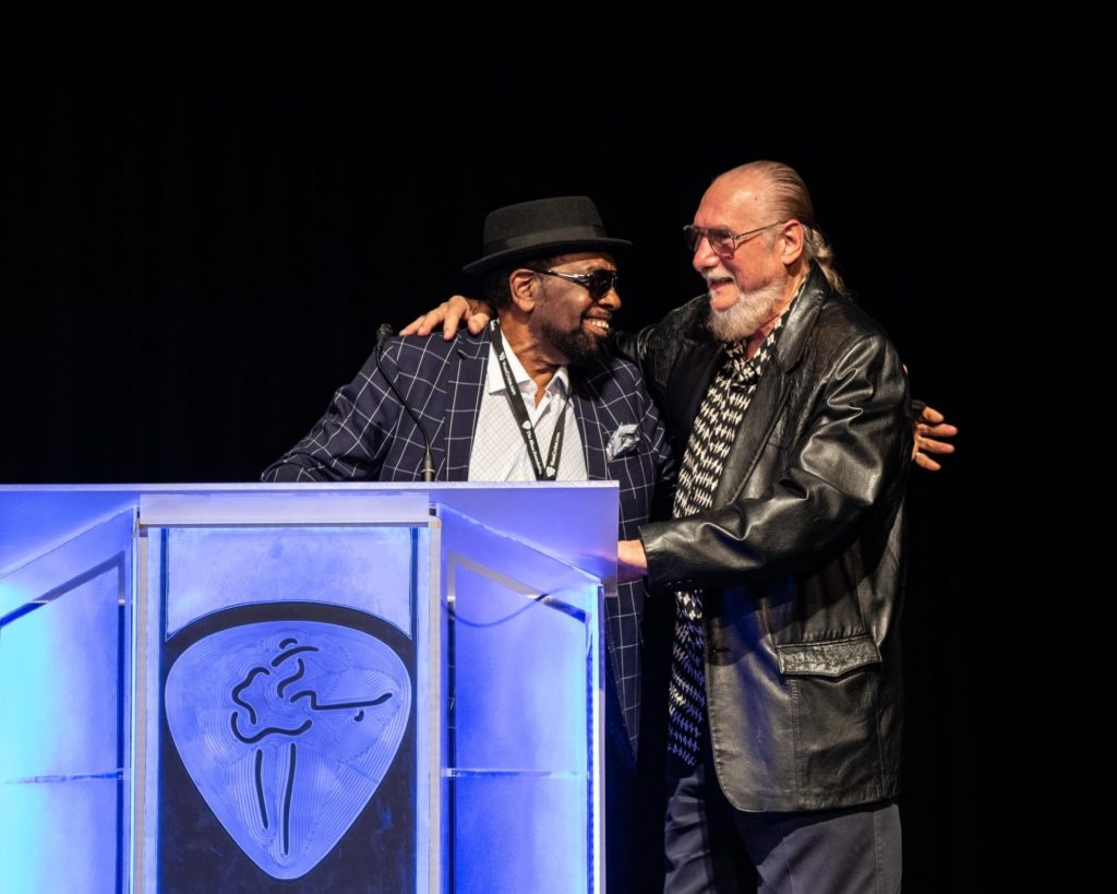 Roger Stephenson Photography — with William Bell and Steve Cropper at Halloran Centre at the Orpheum Theatre Memphis.