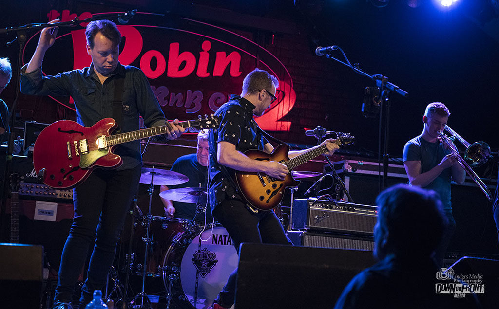 image of the Chris Bevington Organisation onstage at the robin 2