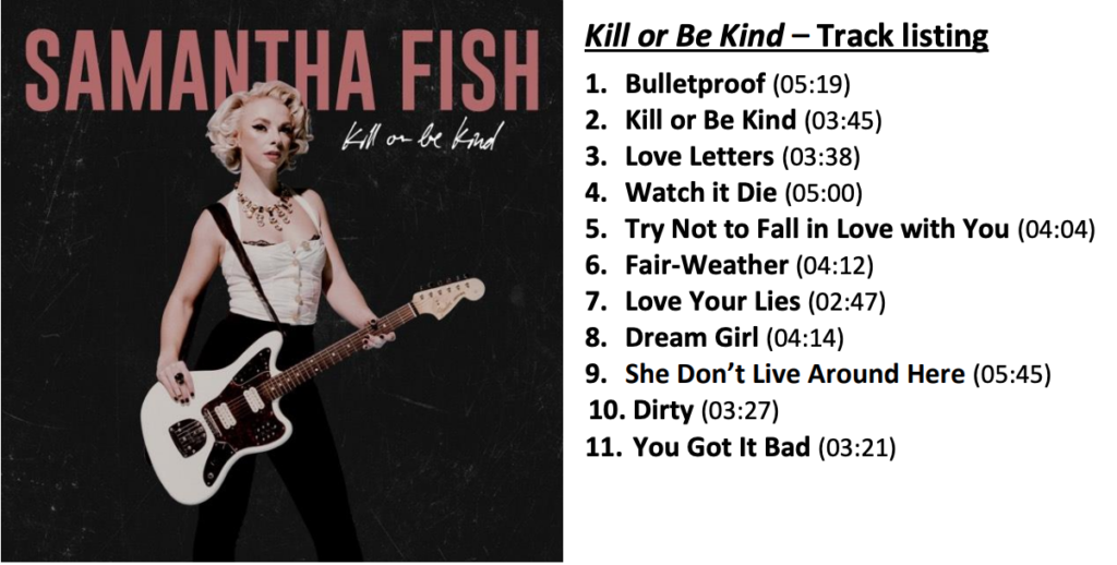 image of album cover and track listing for samantha fish kill or be kind