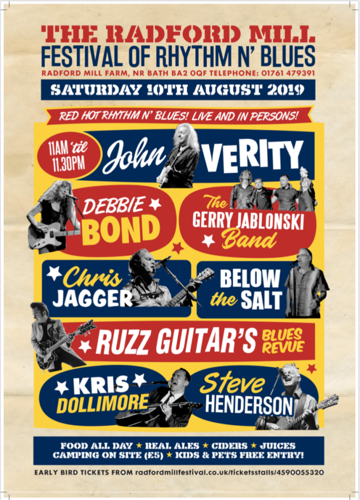 image of poster for radford mill festival 10th august 2019