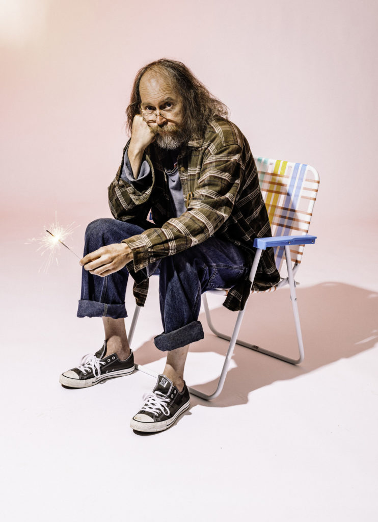 image of charlie parr sitting on a deck chair