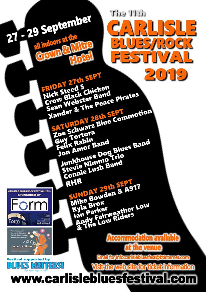 image of poster for carlisle blues / rock festival 2019