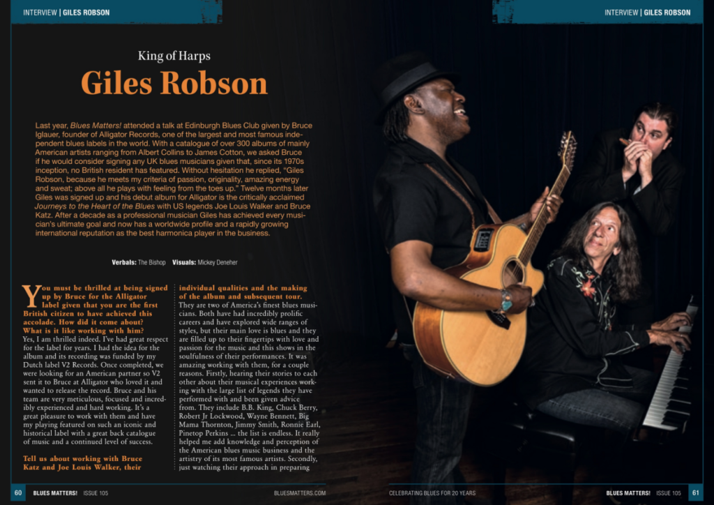 interview with giles robson from issue 105 of blues matters magazine