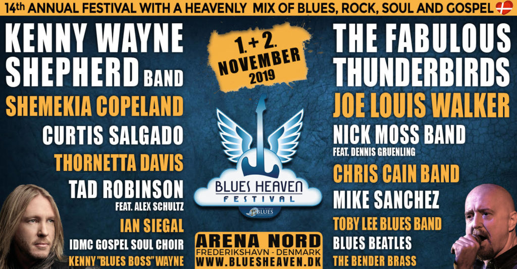 image of banner for blues heaven festival 2019 lineup