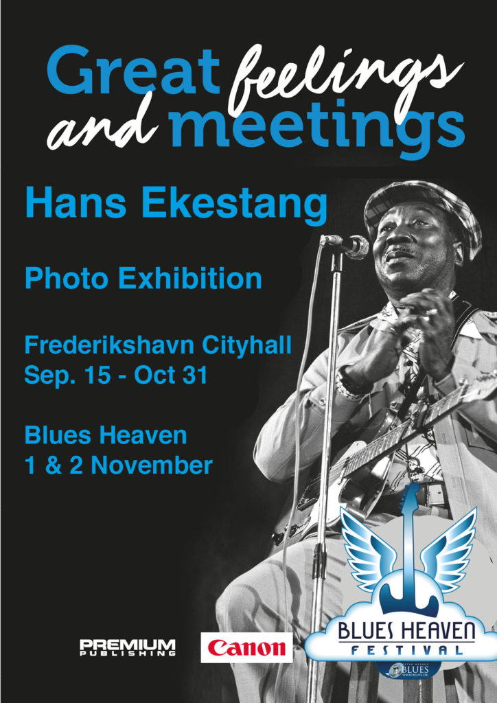 image of poster for greetings and meetings photo exhibition at blues heaven festival 2019 by hans ekestang