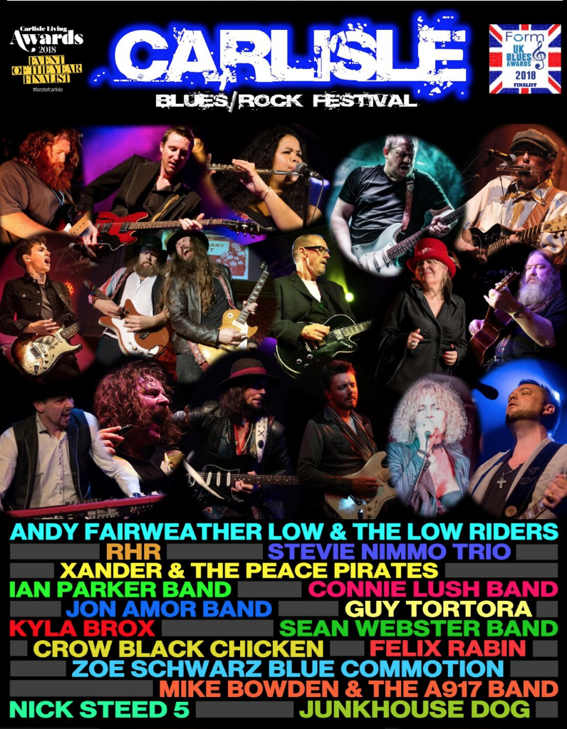 image of poster advertising the sold out carlisle blues rock festival 2019