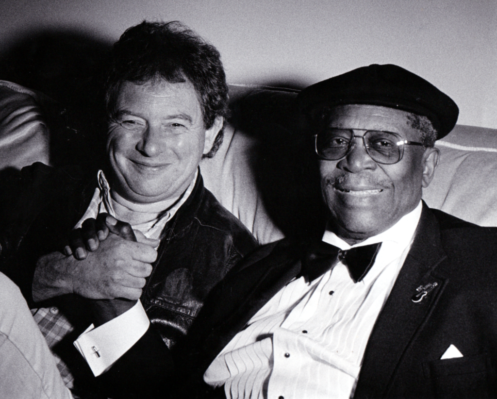 image of blues guitarist julian piper with bb king