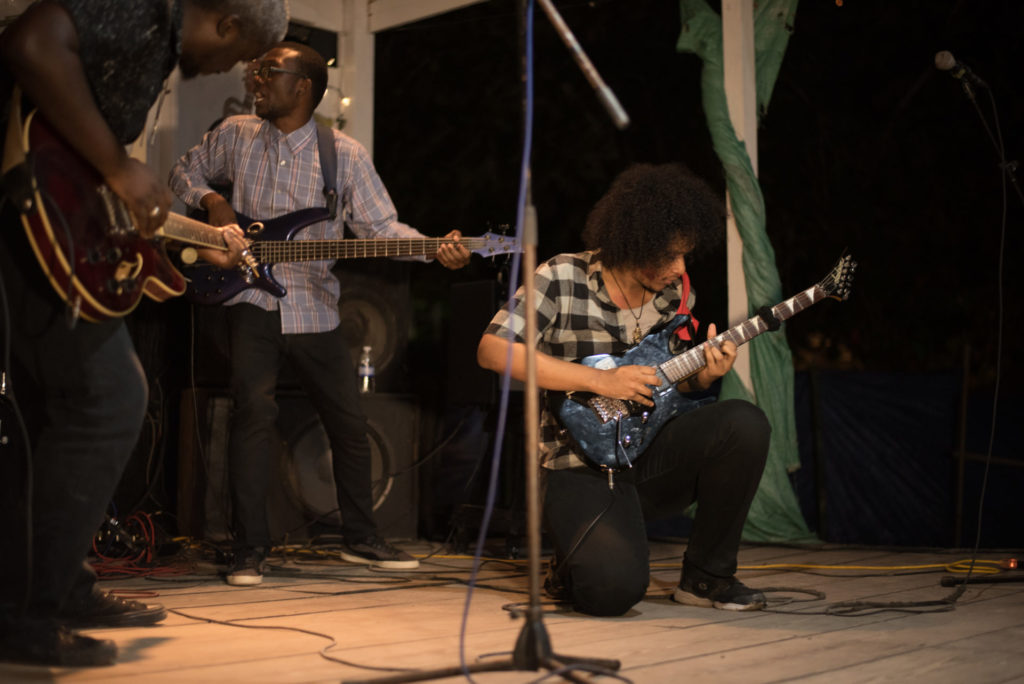 image of Jamaican band Iron Kyte on stage