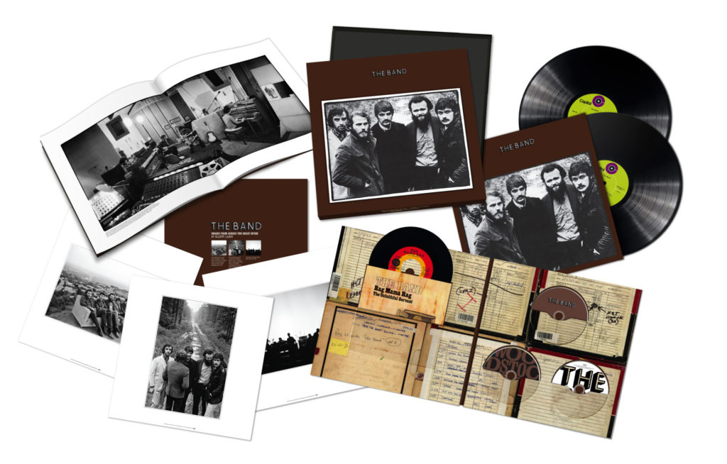 image of The Band's 50th Anniversary Edition of their self-titled album cover and discs