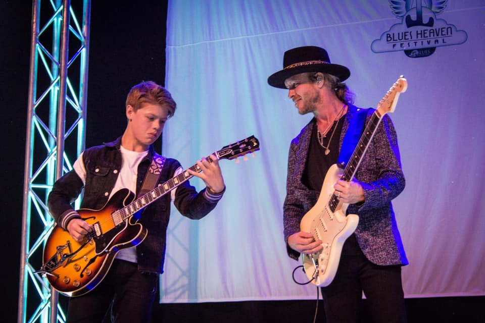 image of kenny wayne shepherd and toby lee at blues heaven festival in denmark