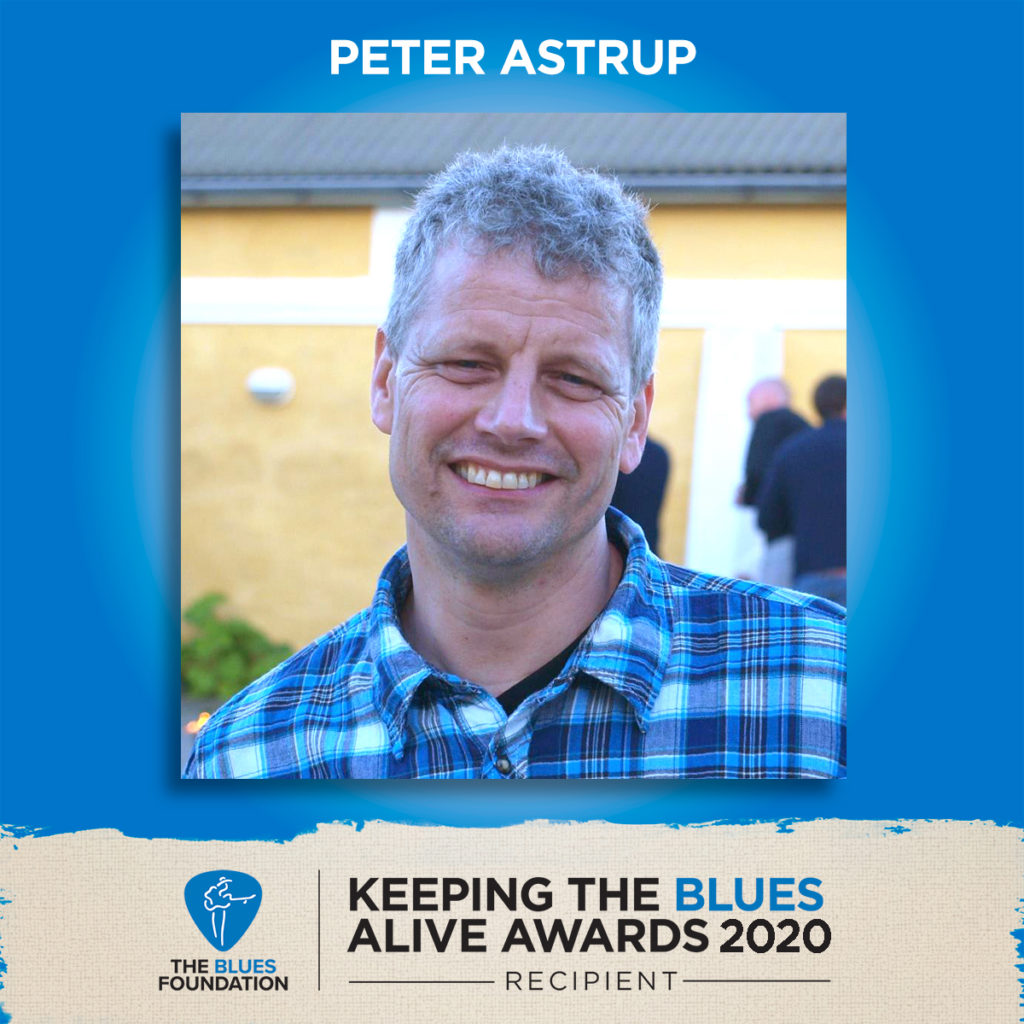 image of the keeping the blues alive award winner peter astrup from blues productions dk