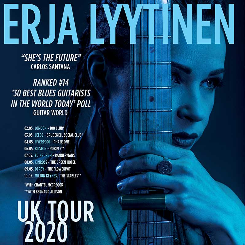 image of tour poster for erja lyytinen 2020 uk tour