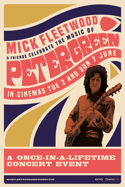 image of poster for mick fleetwoods celebrating peter green
