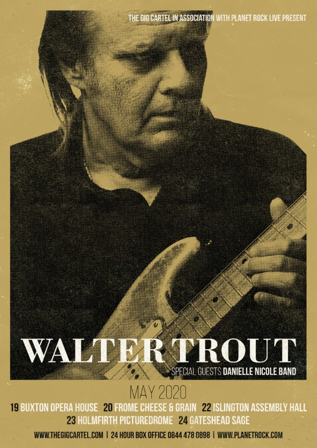 image of walter trout poster for may 2020 uk tour