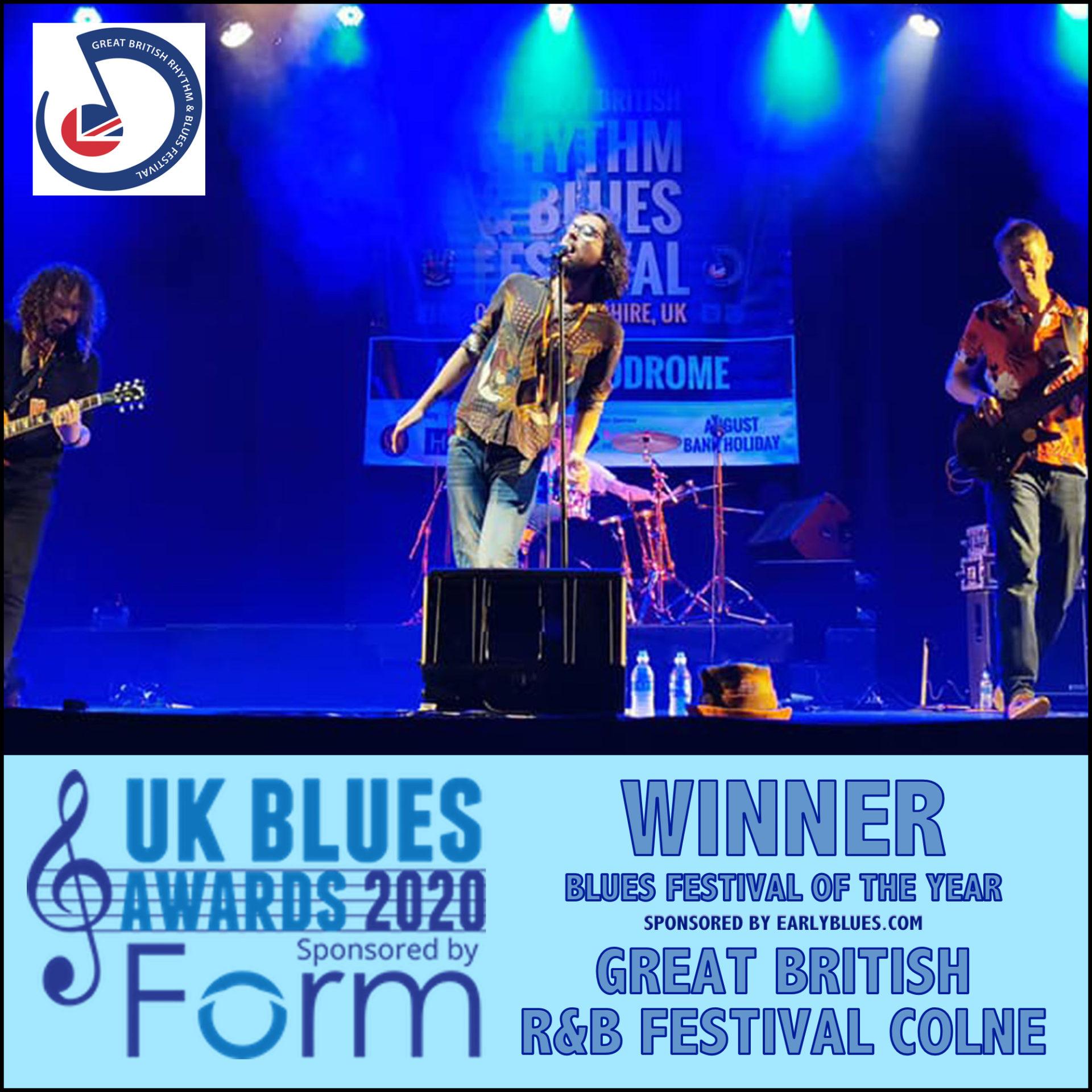 image of 2020 ukblues award winner great british R&B festival colne