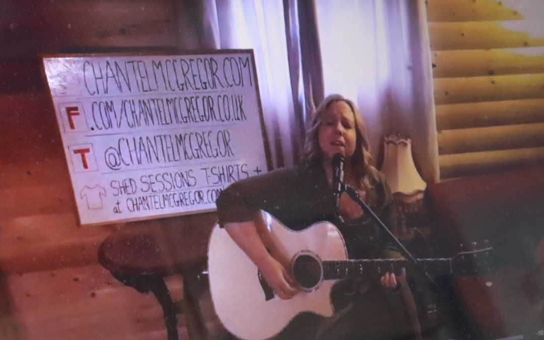 image of chantel mccgregor from her live stream shed sessions
