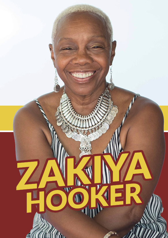 image of zakiya hooker for blues matters mag