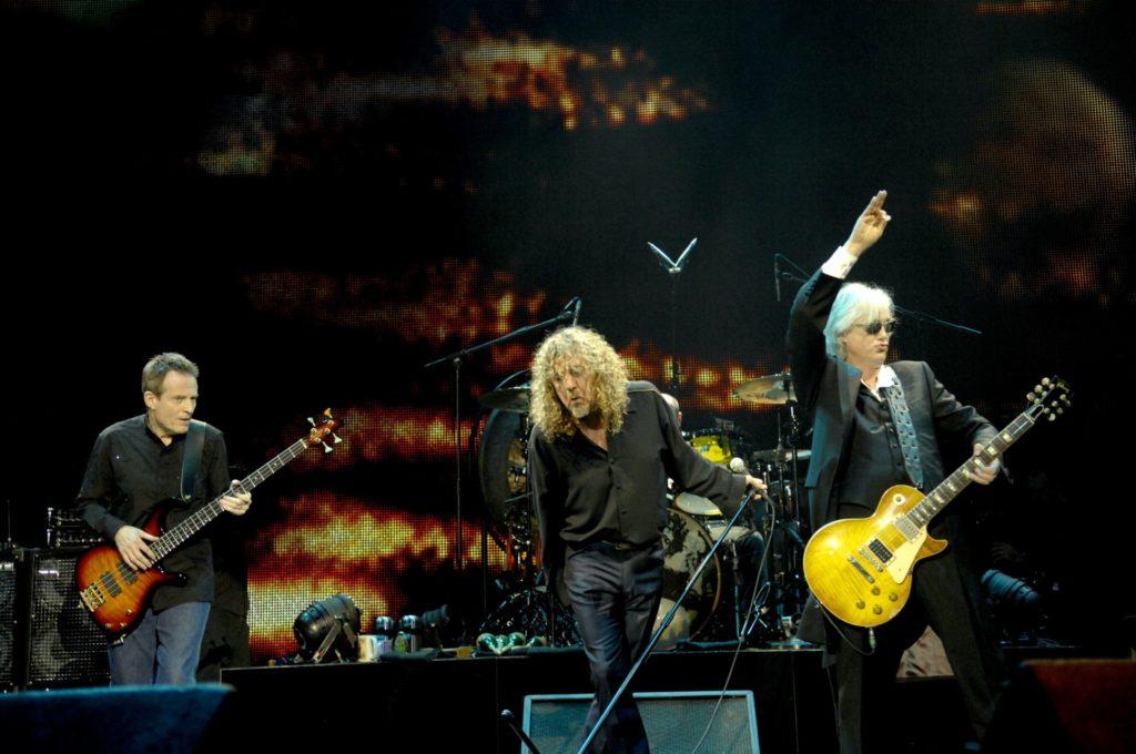 image of Led Zeppelin photo credit Ross Halfin