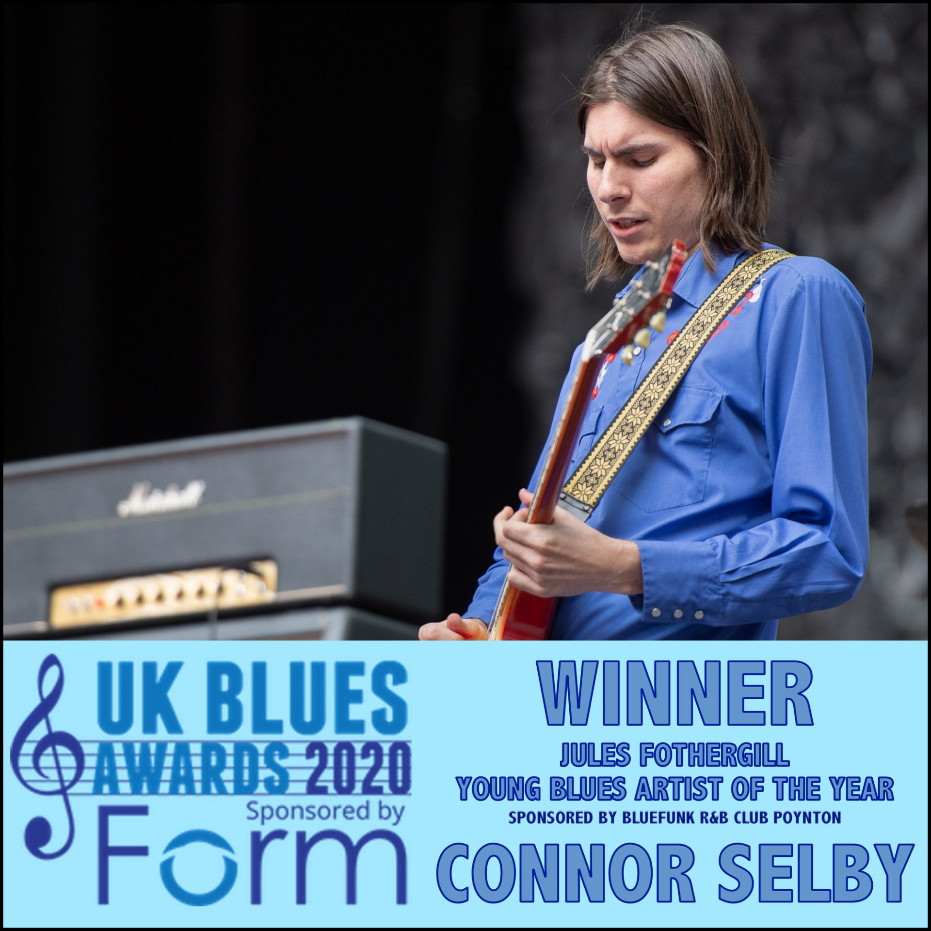 image of ukblues award winner 2020 connor selby